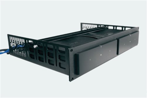 Middle Atlantic Custom Shelf for Rack-mountable Middle Atlantic Products 14D 6 5U Rack Height x 19 Rack Width 5RU Sonos Amps RSHA-SONOS-AMP6 Brushed Black Anodized Black Powder Coat